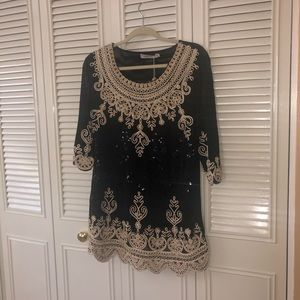 SimplyCouture - black sequined blouse
